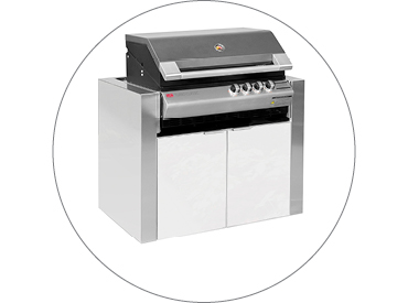 BBQ Cabinet to suit Ziegler & Brown Turbo Classic/Elite 4 Burner BBQ