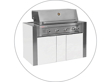 BBQ Cabinet to suit Ziegler & Brown Grand Turbo 4 Burner BBQ