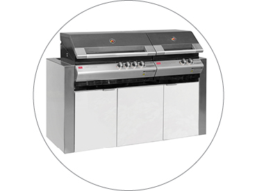 BBQ Cabinet to suit Ziegler & Brown Turbo Classic/Elite 6 Burner BBQ
