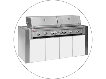BBQ Cabinet to suit Ziegler & Brown Grand Turbo 6 Burner BBQ