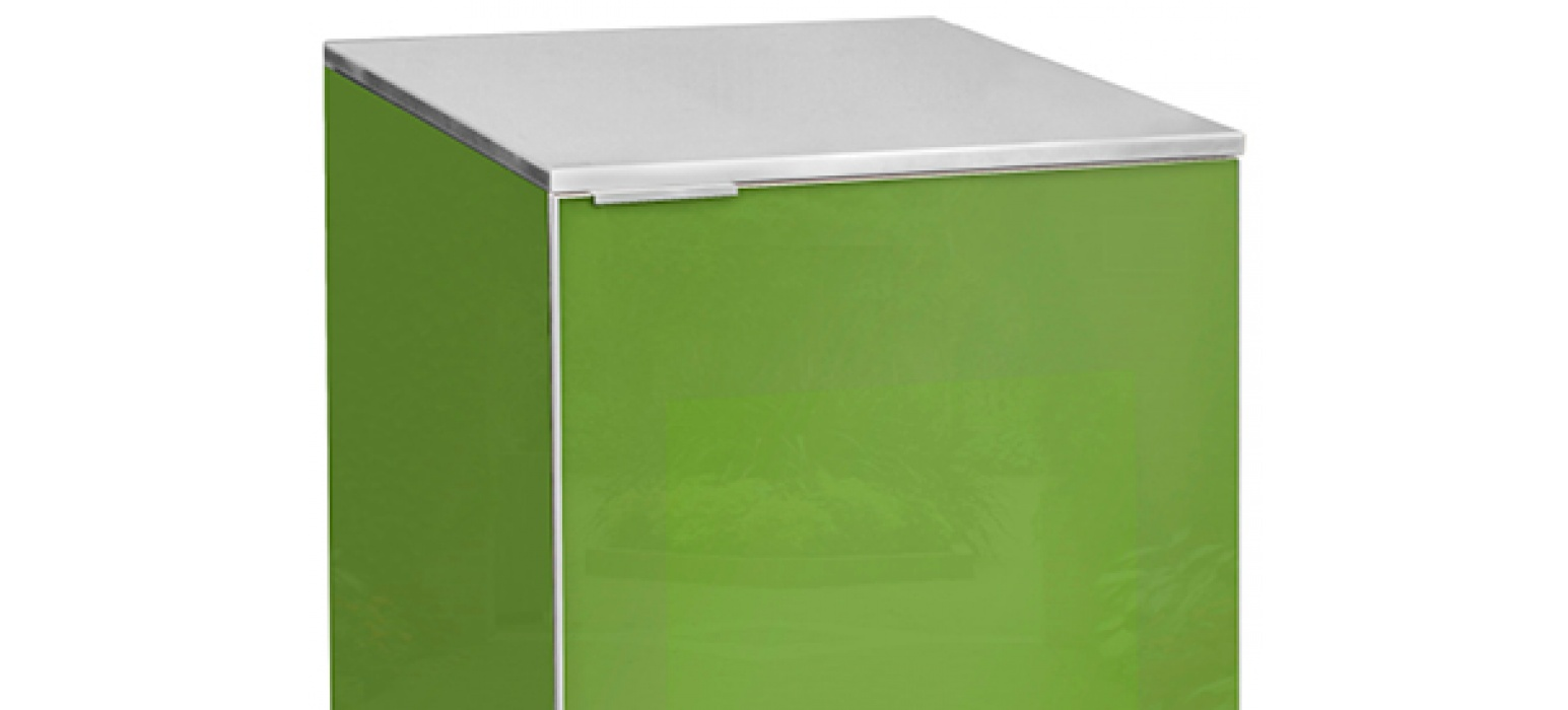Stainless Steel on Olive Grove 1 Door Cabinet