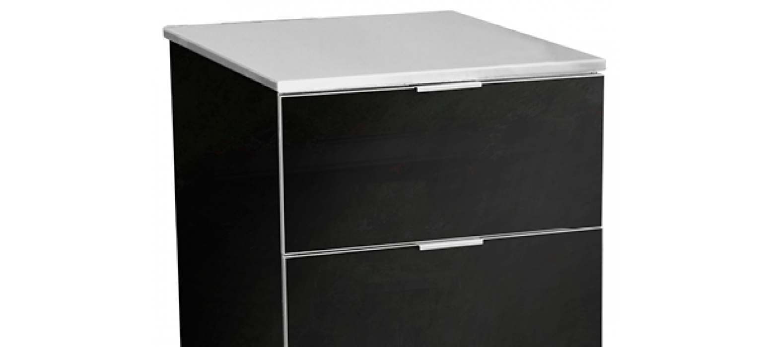 Stainless Steel on Jet 3 Drawer Cabinet